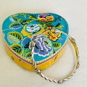 Brighton Braided/Heart Design Bangle Bracelet